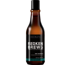 Redken BREWS Mint Clean Shampoo 1 x 300ml All hair types for men