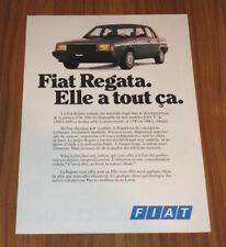 Dépliant FIAT REGATA de 1985