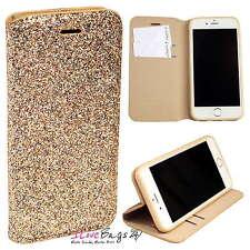 Glitzer Schutz Hülle für Samsung Apple Handy Tasche Flip Cover Case Bumper Etui