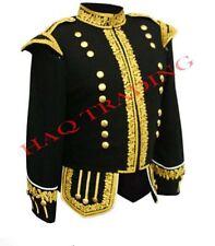 Black Blazer Wool Doublet Gold Bullion Hand Embroidered