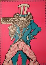 Support Your Subconscious Blacklight Poster Dunham & Deatherage Hippy Uncle Sam