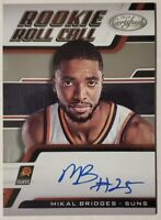 2018-19 Panini Certified Rookie Roll Call Auto RC Mikal Bridges Suns OnCard Auto