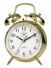 Acctim Keywound Saxon Gold Alarm Clock Luminous Manual Old Style Traditional