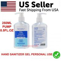 Hand Sanitizer 8.5 FL OZ / 250ml Pump Bottle 75% Alcohol Disinfectant Gel CDC