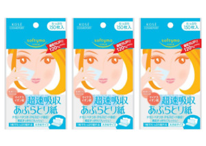 [ 3 SET] Kose Softymo Super Quick Oil Absorption Blotting Paper 150 Sheets Japan