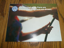 2000 VW Passat Beetle Cabrio GTI Golf Jetta Euro Van Sales Brochure