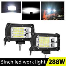 672W 5Inch LED Work Light Bar Flood Off-road Driving Fog Lamp Truck Boat ATV 4''