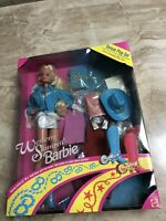 Vintage Barbie Doll Horse Gift Set DELUXE WESTERN STAMPIN' Rodeo Blonde Cowgirl