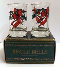 Hans Henrik Hansen for Royal Copenhagen Jingle Bells Dram Glasses 1989 Boxed