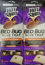 2 Boxes - Hot Shot 4-Count Bed Bug Glue Trap Disposable Detection System