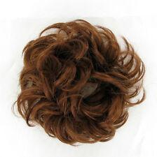 hair bun scrunchie ponytail coppery golden brown 17/30 peruk