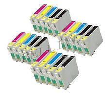 20 CARTUCCE COMPATIBILE PER STAMPANTE EPSON Stylus DX3800 CON CHIP BL