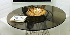 Bronze Round Tempered Glass Table Top 1/2