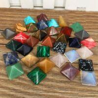 Premium Set of 7 Chakra Pyramid Stone Set Crystal Healing Chakra Set