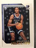 2018-19 NBA Hoops Jaren Jackson Jr. Winter Holiday #278 RC Rookie Mint+