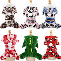 Christmas Dog Jumpsuit Winter Dog Clothes Puppy Chihuahua Bulldog Dog Coat