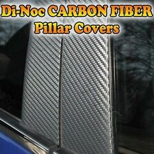 CARBON FIBER Di-Noc Pillar Posts for Volvo S60 01-10 6pc Set Door Trim Cover Kit