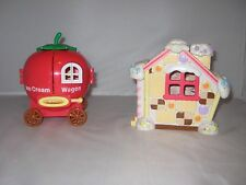 Hello Kitty Sanrio playsets Strawberry Ice Cream Wagon Gingerbread House Plastic