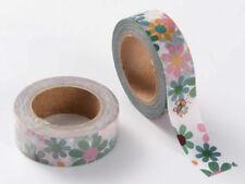Ruban Masking Tape Grandes Fleurs 15mmx10m MOD7 adhésif Scrapbooking Loisirs