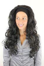 LOCKENPRACHT Perücke mit Stirnband SCHWARZ Latina