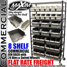 MAXIM 24 Bin Storage Rack Box Tool Shed Garage Tote Workshop Cabinet System Set