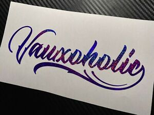 PURPLE HOLOGRAPHIC Vauxoholic Car Sticker Decal Funny Vauxhall VXR SRi