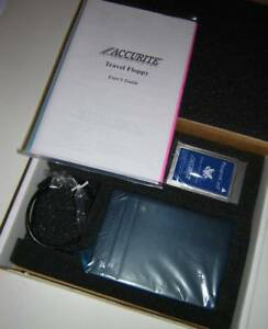 Accurite External PCMCIA Travel Floppy Diskette Drive FDD Kit for Laptops NEW