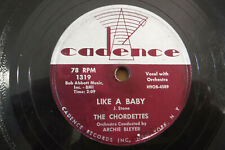 The Chordettes, Echo Of Love / Like A Baby, 1957 Cadence 1319, 78rpm, Pop