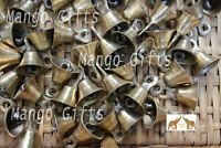 Brass Metal Bells Gold Finish Handmade Indian Vintage Style Indian Crafts 100 Pc