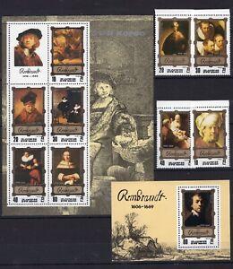 Artist Art Rembrandt on postage stamps - perf. MNH** F101