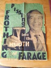 Billy Childish Original 1st Edition Stamped Numbered Farage Art Hate Brexit No2