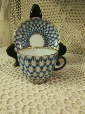 Russia Blue Demitasse Vintage Cup Saucer Set