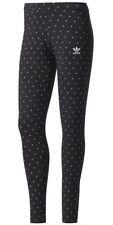 Nuevo Para mujeres Para Damas Adidas Originals Gráfico Leggings Pantalones Pantalones Ajustados-Negro