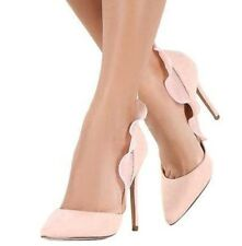 High Heel Pointed Toe 4.3 in Stiletto Nude Shoes US 11