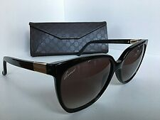 1fe05a66d2dbb New GUCCI GG 3502 S 807N6 57mm Black Oversized Women s Sunglasses Italy