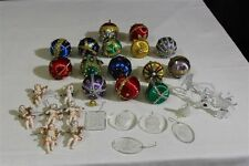 Lot of 32 Vintage Christmas Ornaments Sequin, Beaded, Acrylic, Italian Angels