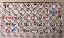 50 Advertising & Cartoon Logo 1 Inch Marbles Great For Collecting / Resale lot C