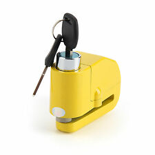MOTORCYCLE Motorbike Disc Lock ALARM - JAWS - Yellow