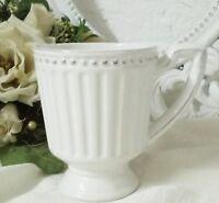 Kaffeetasse Pot Tasse Kaffeebecher Weiß Porzellan Landhaus shabby Vintage