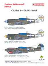 Techmod Decals 1/72 CURTISS P-40N WARHAWK Fighter