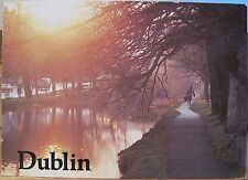 Irish Postcard GRAND CANAL Trees Reflected DUBLIN Liam Blake Real Ireland 1988