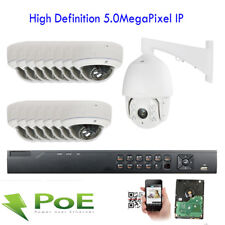 16CH 5MP NVR 1920X2592P Security 15pc Dome PoE IP PTZ Camera Outdoor CCTV System