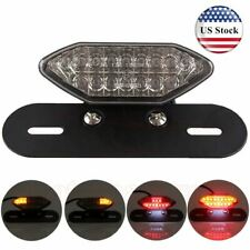 Motorcycle 16 LED Turn Signals Brake Running License Plate Integrated Tail Light