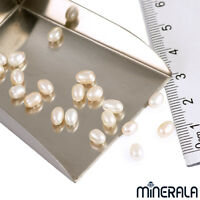[WHOLESALE] GENUINE NATURAL FRESHWATER WHITE PEARL HALF DRILLED 4.50mm DROP