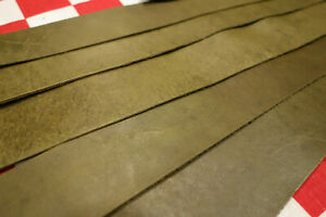 THIN HORWEEN FROG GREEN HORSE FRONT 2 oz. LEATHER STRAPS, SELECT YOUR SIZE.