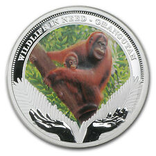 2011 1 oz Proof Silver Orangutan Coin - Wildlife in Need Series