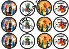 Muffinaufleger Lego Ninjago C4 Oblaten--24 Stück--Geburtstag---Party ( 30 )
