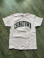 Chinatown Market Pink Arc Logo Tee Shirt Size Large Basketball Mickey Croc Dog