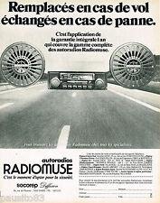 PUBLICITE ADVERTISING 065  1980  RADIOMUSE  auto-radio