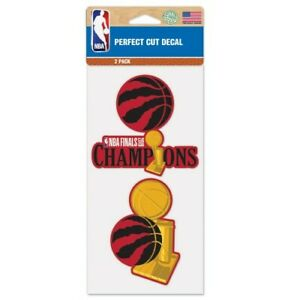 Toronto Raptors Wincraft 2019 NBA Champions 4x4 Decal Set 2 Pc FREE SHIP!